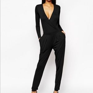 ASOS wrap front back cutout pleated pockets